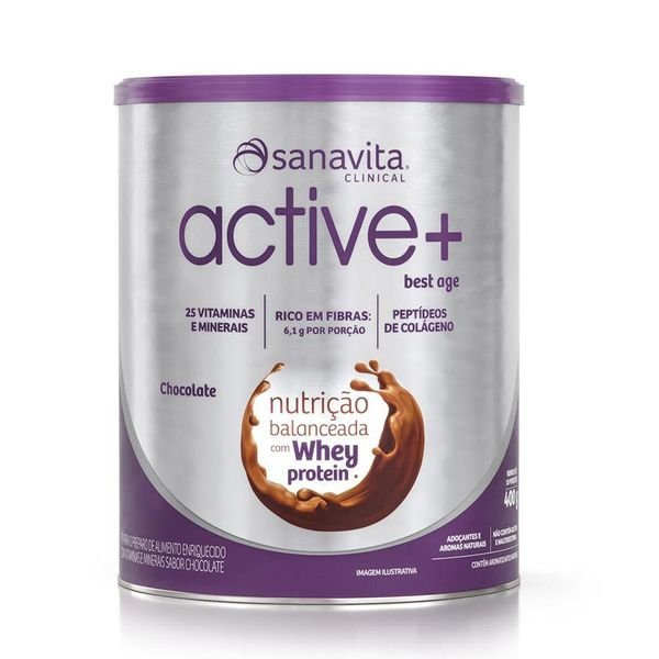 Active + best age - sabor chocolate   Sanavita 400 gramas